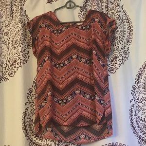 Pink Republic Pink Floral Patterned Top